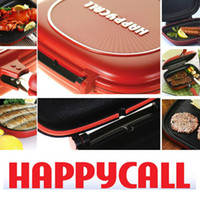 Wholesale Hottest selling Happy Call cm Deeper Bigger Fry pan Double Side Grill Fry Pan With Grilling