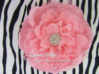 Wholesale 5 Peony Flowers With Shiny Gem Center Flat Back Trial order QueenBaby