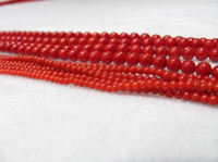 Wholesale 3mm mm mm mm Strand inch natural Red Sea Coral Gemstone Round Ball Loose Beads Findings