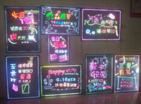 Wholesale 50 CM led writing board led advertisement board led display board with highlighters amp bracket