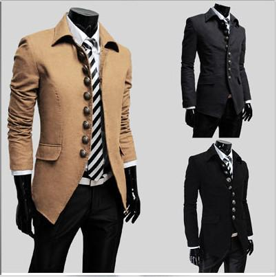 Online Cheap Hot Men Outerwear & Coats Overcoat Wool Coat Men