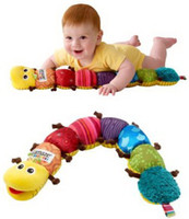 Wholesale Free Gift Lamaze Baby Toys Multi Purpose Musical Inchworm Toy Baby Plush Toys Infant Toys