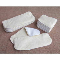 Wholesale 20pcs Layers Antibacterial Bamboo fiber Baby Diaper diaper pad Cloth Diaper Inserts Diaper Liners