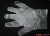 Wholesale LDPE gloves medical Disposable diaphragm gloves lucency PE gloves ID LG19