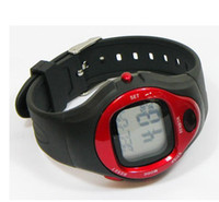 Digital Digital Plastic Free Shipping Calorie Counter Pulse Heart Rate Monitor Stop Watch Red