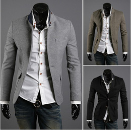 Wholesale DA New Top grade Men Leisure Suit Unique The collar Slits after colors