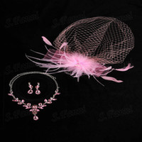 Crystal big feather earrings - Big Discount One Feather Headwear Cystal Earrings And Necklace Jewelry Suit