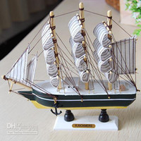 Wholesale European multi Mediterranean style wooden sailing ship model cm
