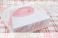 Wholesale cake packing Pink lace hand cake box pizza box cm