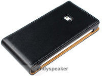 Wholesale FreeShipping Genuine Leather flip Case For NOKIA Lumia pouch skin cover case