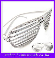 Wholesale Shutter diamond studded sunglasses personalized fashionable disco party photography
