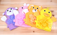 Wholesale Gloves bath rub child five colors Cartoon style With bath flower toddler dandys