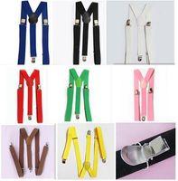 Wholesale Unisex Braces Suspenders Y back Neon Plain Adjustable Clip on Elastic Thong Mens