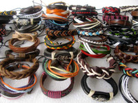 Wholesale Mixed Style Surfer Cuff Ethnic Tribal Leather Bracelets Fashion Gift