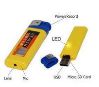 Wholesale 50pcs New Lighter Spy DVR USB Mini DV Hidden Camera Camcorder FPS