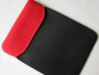 Wholesale Black Red inch Laptop Sleeve Soft Case for tablet pcPT07