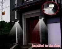 Wholesale PIR Solar Powered Wall Lamp LED LEDs Lights Wall Light Ray Motion Sensor Light Motion Detection