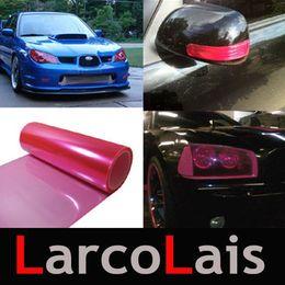 30cm*10m Glossy Hot Pink Color Tint Headlights Fog Lights Sidemarker Vinyl Film Motor Car Sticker