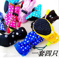 Wholesale Hot New Pet Dog Shoes pet shoes colorful Prevent slippery rain dog shoes MIX Order