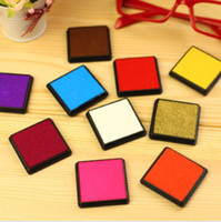 Wholesale Korea stationery cute DIY Ink Pad for Stamp Many color FreeShipping