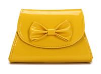 Jade Fox Handbag Lady Shoulder PU Korean Version Bowknot Pur...