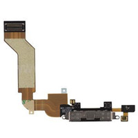 Wholesale For IPhone S Dock Connector Charging Port Flex Cable Ribbon Replacement Black