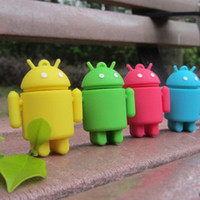 Livraison gratuite en silicone coloré en silicone android cartoon robert usb pendrive 4gb