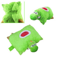 Wholesale Super Mario Bros Yoshi Transforming PET PILLOW Nap Sleep Car Cushion Plush Doll