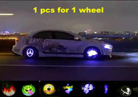 Wholesale New arrival pc Car Hub Animation LED Tires Running Light Car Led Image light HOT SALE