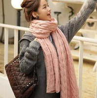 Wholesale Thick Models Of The Korea Cannabis Winter Extended Knitting Mohair Scarf Couple Modle