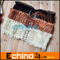 Wholesale women s waist belt side lace plastic belt belt match dress belt lace belt