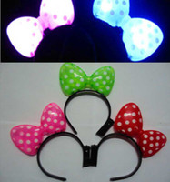 Wholesale New LED Hairpin Flash Headband Light Up Hair Clips Red Green Pink Free Ship