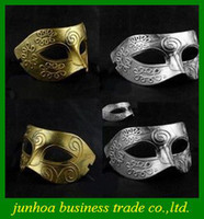 Wholesale Golden Silver Masks Vintage Roman Gladiator Men s Venetian Carnival Mask