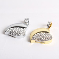 Wholesale Jewelry heart shape usb flash drive with gift box jewelry pendrive