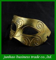 Wholesale Fashion Venetian Carnival Mask Vintage Roman Gladiator Men Party Masks Golden Silver