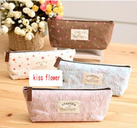 Wholesale NEW life style flowers Pencil bag Cosmetic Storage case Pen holder pouch Functional Fashion