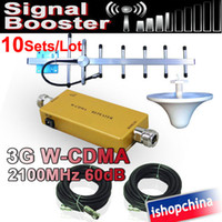 Wholesale High Gain sets G W CDMA MHz Mobile Cell Phone Cellular Signal Booster Amplifier Repeater dB