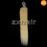 Wholesale 100S quot Micro rings loop hair remy Human Hair Extensions g s