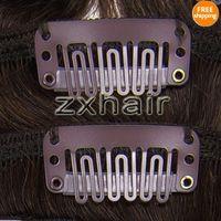"20"" 7pcs set Clip- in hair Human Hair Extensions #02"