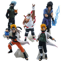 Wholesale Set NARUTO Uzumaki Kakashi SASUKE PVC Figure Set Of