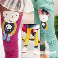 2year-7year childrens leggings - Baby Kids Childrens Leggings Tights Lovely Girls Candy Leggings Cotton Cartoon Trousers Girls Wear