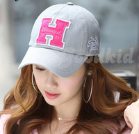 Wholesale quot H quot letters sun hat Baseball cap Casual hats Snapbacks hats colors available