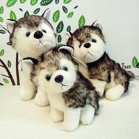 Wholesale Husky dog plush toys Husty Wolf Dogs stuffed animals toy hobbies inch