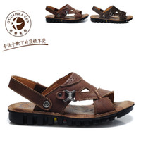 Hot GUCIHEAVEN Men's Sandals Slippers Summer Cow leather Cas...