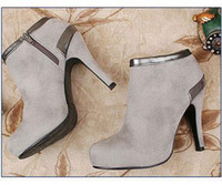 Wholesale 2012 Quality Boots New Lady Fashion High Stiletto Heel Ankle Boots For Women Colors