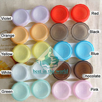 Wholesale RETAIL pairs Contact Lens Soaking Case Storing Holder Support Whole Sale