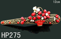 Wholesale fashion jewelry hair Jewelry flower rhinestone alloy hair clip hair ornament Mixed color HP275