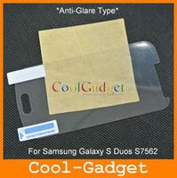 Wholesale Skin Galaxy Duos - matte anti-glare LCD Screen Film Guard Skin Cover for Samsung Galaxy S Duos S7562 100pcs MCP503
