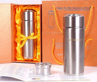 Wholesale 20PCS Hot ml nano Energy Cup Alkaline energy flask water ionizer filter with gift box colors