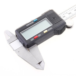 Wholesale 6 quot mm Electronic Digital Caliper Vernier Stainless Steel Gauge Micrometer with box H157